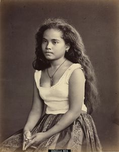 """Doncella india"". ca. 1870.  Album de Filipinas. BNE. In Flickr."