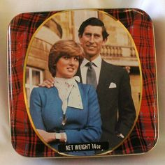 Rare Vintage Lady Diana and Prince Charles Royal Wedding Commemorative Tin 1981