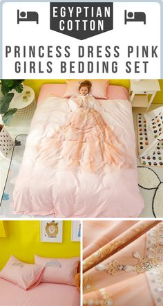 This beautiful girls bedding set with pink princess dress printed on it and Egyptian Cotton Fabric is the perfect bedding set for your little girl. Now you can create the perfect sleeping environment for your little girl with natural toxins free bedding t Girls Pink Bedding, Girls Bedroom, Bedroom Decor, Master Bedroom, Pink Princess Dress, Egyptian Cotton Bedding, Cotton Bedding Sets, Duvet Covers, Cotton Fabric
