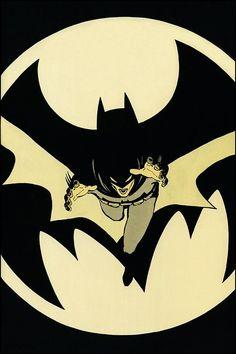 Batman by David Mazzuchelli, from BATMAN: YEAR ONE