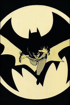 Batman   Art by David Mazzuchelli, from BATMAN: YEAR ONE. Still one of the coolest Batman images from one of the best Batman stories ever.