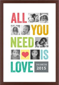 All You Need Is Love Framed Print, Brown, Contemporary, None, White, Single piece, 20 x 30 inches