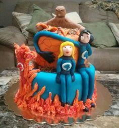 Fantastic four cake