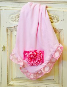 Haute Baby Pink Baby Blanket with Polka Dot Ruffles Pink Baby Blanket, Baby Blankets, Baby Girl Boutique, Designer Baby Clothes, Newborn Girl Outfits, Special Girl, Girl House, Home Outfit, Future Baby