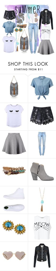 """""""Fresh Light"""" by glitzygerber ❤ liked on Polyvore featuring River Island, Miss Selfridge, Chicnova Fashion, Tiger of Sweden, Anine Bing, BKE, rag & bone, Converse, Madison Parker and Wildfox"""