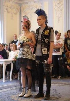 It's a nice day for a punk wedding.