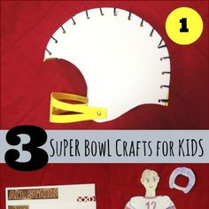 We have three new Super Bowl party DIY project ideas today: a kidlet helmet; an articulated football player paper figure; and recipe cards. You can use them as crafts for the kids, as decorations or for favors for your Super Bowl party theme. The supplies are inexpensive, the patterns are free...