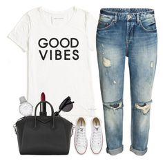 """""""Sans titre #701"""" by kenbou1003 ❤ liked on Polyvore featuring Tommy Hilfiger, Yves Saint Laurent, Topshop, NARS Cosmetics, Givenchy and Converse"""