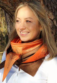 Orange, Elegant, Fashion, Accessories, Silk Shawl, Dirndl, Autumn, Get Tan, Colors