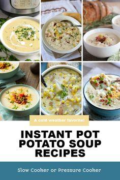 Instant Pot Potato Soup Recipe, Best Instant Pot Recipe, Instant Pot Dinner Recipes, Best Soup Recipes, Chili Recipes, Healthy Recipes, Healthy Foods, Slow Cooker Soup, Slow Cooker Recipes