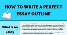 In this article, we are going to be talking about how to write the perfect essay outline. This is important as it gives you a good foundation on which to Academic Essay Writing, Persuasive Essays, Book Writing Tips, Writing Lessons, English Vocabulary Words, Learn English Words, Introduction Paragraph, Types Of Essay, Topic Sentences