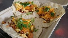 Breakfast tacos at Andrae's Kitchen!
