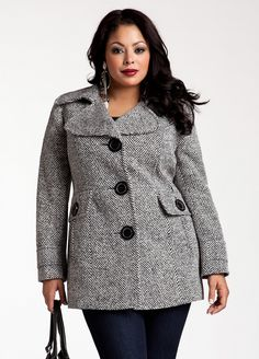 Ashley Stewart: Heavyweight Wool Coat