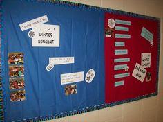 Winter concert bulletin board