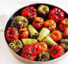 Stuffed Vegetables with Quinoa sound quite delicious (γεμιστα με κινoα) / Mulberry and Pomegranate Greek Recipes, Pomegranate, Quinoa, Vegetables, Food, Summer, Blue, Brioche, Recipes