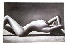 M. Harold Original Oil Painting Female Nude in Recline by EMOharra