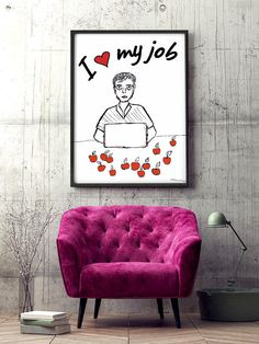 """Poster """"Because of you, I am me"""" * Housewarming Gift * Lovely mom * Mother's day gift * Art Poster * My dear mother * I love mom by MerryGallery on Etsy I Love Mom, Love My Job, True Love, Mother Day Gifts, House Warming, Interior Decorating, Gallery Wall, Handmade Gifts, Cards"""