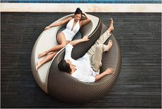YIN YANG LOUNGING OUTDOOR CHAIR | BY DEDON. OMG, I love this and it would look great in my backyard by the pool.