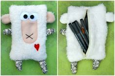 sheep pencil case
