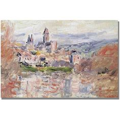 Trademark Fine Art The Village of Vetheuil Canvas Art by Claude Monet, Size: 30 x 47, Multicolor