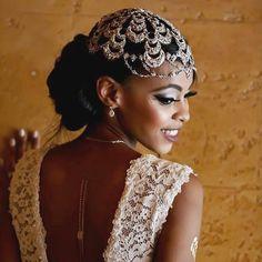 "2,897 Likes, 36 Comments - Black Bride (EST 1998) (@blackbride1998) on Instagram: """"Australia bride Haana looking like a dream in a gorgeous Swarovski encrusted headpiece by…"""