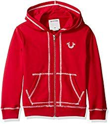665f4a8a3a60 True Religion Big Boys  French Terry Hoodie, Shoe String Bright Red, ...