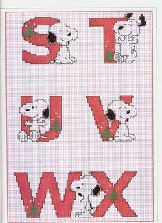 Schema Punto Croce Alfabeto Linus 4