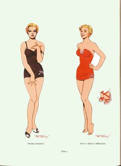 Marilyn Monroe Travilla paper dolls by Tom and 50 similar items
