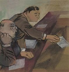 In Front of the Bench By Ben Shahn ,1937