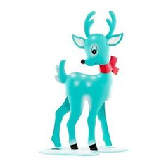 Department 56 Vintage Christmas D�cor Line Metal Standing Deer Figurine 15.5-In