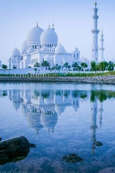 Architecture - Places of Worship - Sheikh Zayed Grand Mosque, Abu Dhabi, United Arab Emirates Abu Dhabi, Sharjah, Beautiful Architecture, Beautiful Buildings, Beautiful Mosques, Beautiful Places, Places To Travel, Places To See, Travel Maps