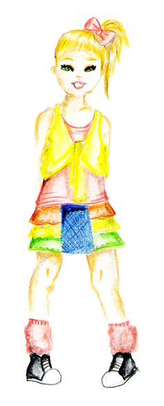#Girl #Cute #Fashion Illustration #Maria Garreton