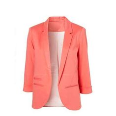Women's Slimming Blazer With Solid Color and No Button Design (WATERMELON RED,M) China Wholesale - Sammydress.com