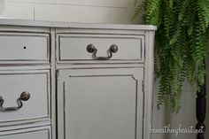 How I Painted my Vanity with Annie Sloan Chalk Paint - Beneath My Heart