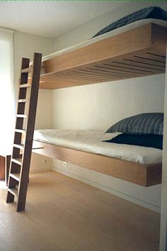 floating bunk beds by phillippe allaeys