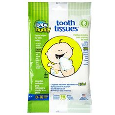 Baby Buddy Tooth Tissues Stage 1 for BabyToddler Bubble Gum Flavor Kids Love White 60 Count ** Check out the image by visiting the link.
