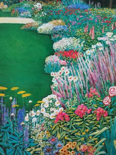 """""""Le Grand Jardin"""" by Jean-Pierre Cassigneul from the book """"Cassigneul"""" Editions d'Art de Francony."""