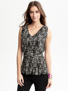 Banana Republic mini-pleat shell. Interestingly, they released this top LAST summer, when I got mine.