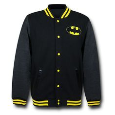 This Batman Symbol Letterman Jacket will let everyone know that you are schooled in the art of brooding and protecting Gotham. Batman University will teach you how to drive Batmobiles, use utility belts and trade punches with the Rogue&