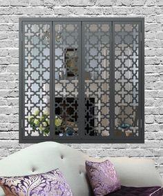 Moroccan Octo Grey mirror shutters
