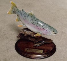 Hand carved rainbow trout