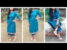 Make Full Suit From Old Saree | DIY Kurti | Measurement ,cutting ,Stitching - YouTube
