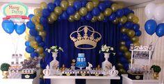 decoração em azul e dourado - Pesquisa Google