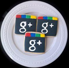 Google+ Decorated Cookies by peapodscookies