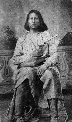 Johnson, chief of Tonkawa scouts under Ranald Mackenzie in north Texas. The skills of the Tonkawa scouts were greatly valued by the Army.