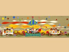 One of the late, great Mary Blair Tomorrowland murals, which are sadly covered up now.