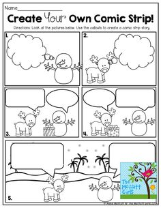 FUN-Filled Learning with NO PREP! Create Your Own Comic Strip! This is such a FUN way to get second grade students writing creatively!Create Your Own Comic Strip! This is such a FUN way to get second grade students writing creatively! Work On Writing, Teaching Writing, Writing Activities, Classroom Activities, Preschool Bulletin, Writing Comics, Writing Centers, Writing Ideas, Creative Writing