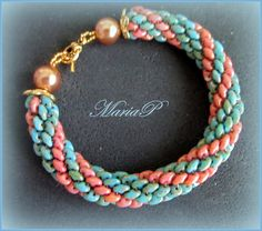 Superduo+spiral+bracelet+by+kallianira+on+Etsy,+€45.00