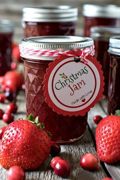 Homemade jams are easy to make and a great way to take advantage of end-of-season fruits. Spoon your creations into sterilized preserving jars, affix a handwritten label, and tie a colorful ribbon for gifting. Deliver the jam with a basket of fresh muffins or bread for a breakfast treat they won't forget. Get the recipe for this delicious strawberry-cranberry Christmas Jam (and a free gift label template!) from our friends at A Family Feast.