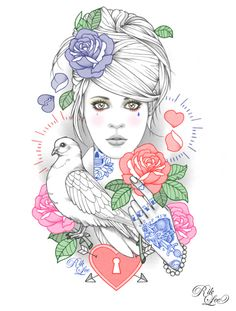 Tattoo inspired work by Rik Lee #Tattoos #TattooFlash #Flash